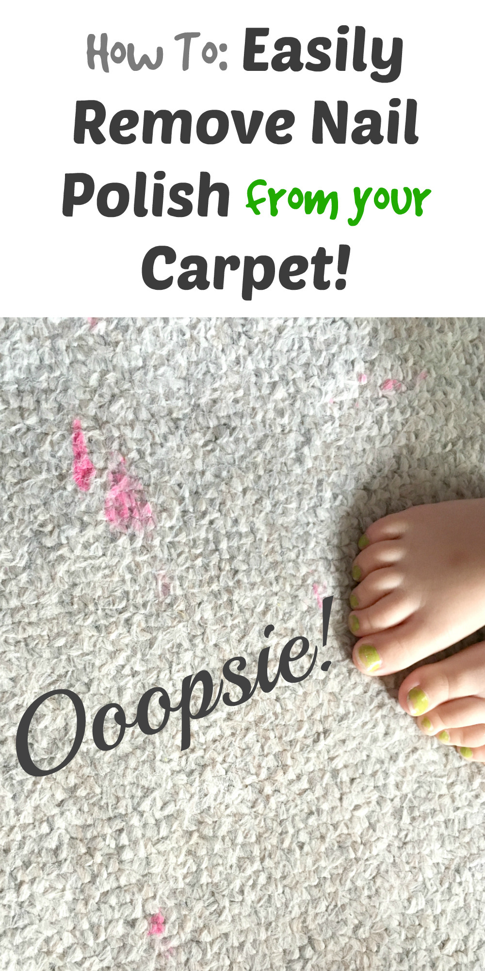 how to easily remove nail polish from your carpet. Black Bedroom Furniture Sets. Home Design Ideas