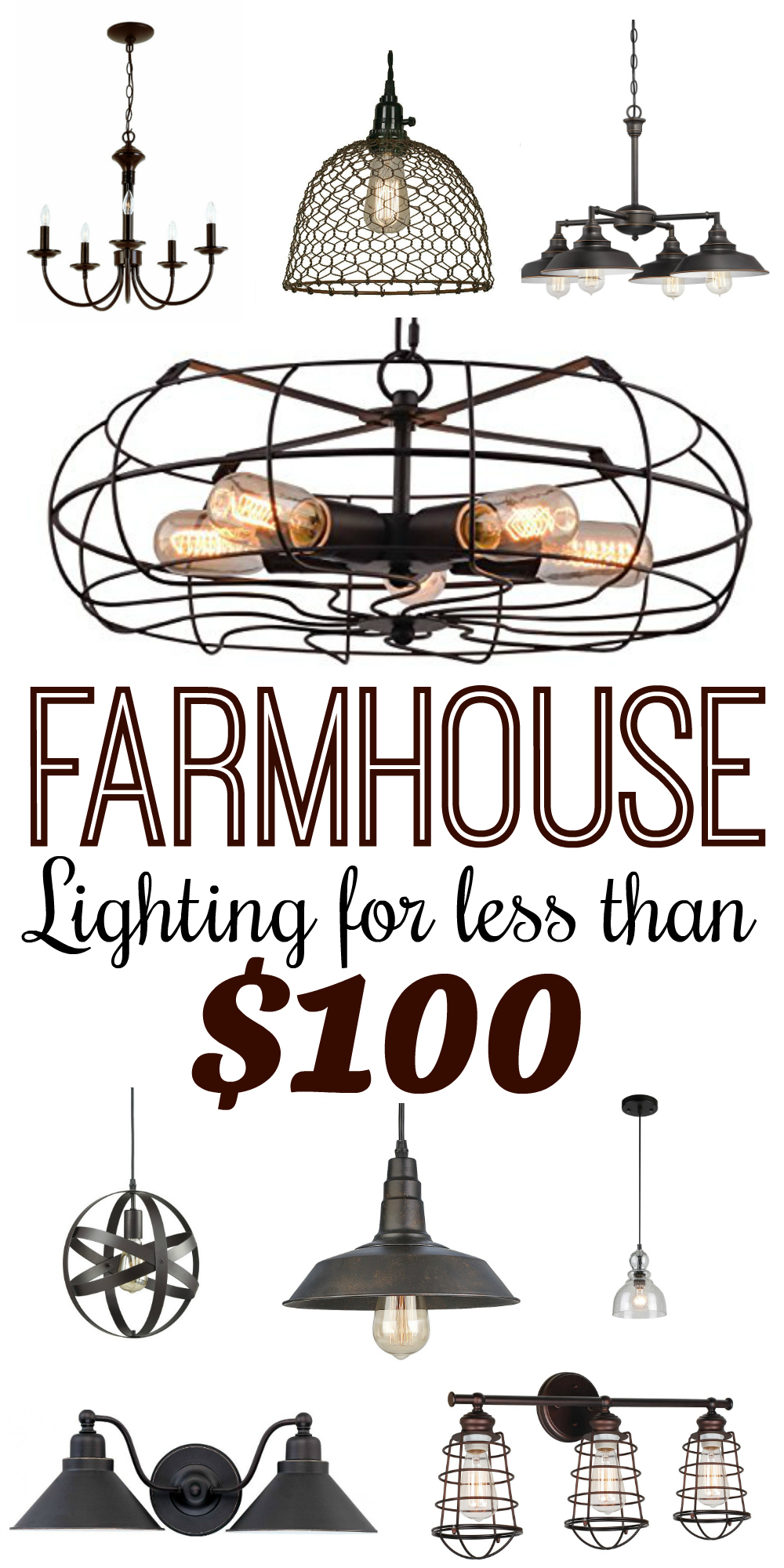 Modern farmhouse style lighting for less than 100 for Modern home decor for less
